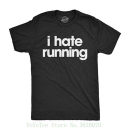 Chinese  Mens I Hate Runner Tshirt Funny Sarcastic Marathoner Runner Fitness Workout Tee For Guys Homme High Quality manufacturers