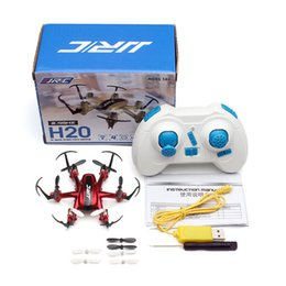 Discount electric remote control airplanes - 2017 Profession RC Drones JJRC H20 2.4G 4CH 6Axis 3D Rollover Headless Model RC Quadcopter Remote Control Aircraft Kids