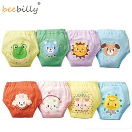 Hot Girls Diapers Australia - Hot High Quality Baby Diapers  Nappies Cloth Diaper Nappy Toddler Girls Boys waterproof cotton potty training pants 4 layers4PCS