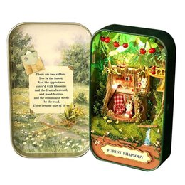 Gifts for year Girl online shopping - Dollhouse Miniature Box Theatre Idea Gift Box Theater Handmade Theme Creative DIY Cute Room Art Handicraft Gifts for Girl s Birthday