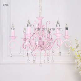 Crystal Candle Light Princess Room Pink Girl Romantic Marriage Room Lighting Garden Dining Room Master Bedroom Chandelier Lamps We Take Customers As Our Gods Ceiling Lights & Fans
