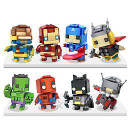 Mini Figures Blocks NZ - Captain America Building Block Building Sets Puzzle Hulk Superman Spiderman Bat man ironman Minifig Black Widow Dead Mini Figures