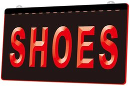 Christmas Decors Suppliers Australia - LS1760-r-Shoes-Supplier-Shop-Display-Metal-Neon-Light-Sign Decor Free Shipping Dropshipping Wholesale 6 colors to choose