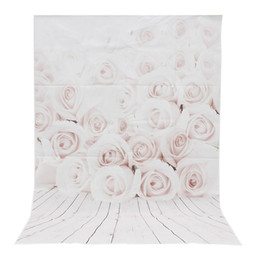 $enCountryForm.capitalKeyWord Canada - 3x5ft Vinyl White Rose wood Wall Floor Photography Background For Studio Photo Props Photographic Backdrop Cloth 1 x 1.5m
