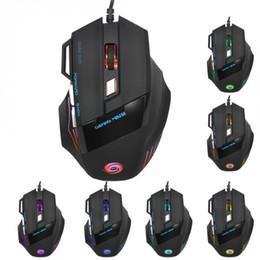 Ratón óptico gamer con cable 5500DPI ajustable 7 teclas LED Gaming Mouse para PC portátil QJY99 en venta