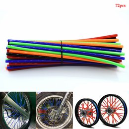 motorcycle spokes UK - For Motorcycle Dirt Bike Wheel Rim Spoke Skins Covers Wrap Tubes Decor Protector Pipe FOR HONDA XR250 XR400 XR600 KTM