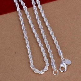 "$enCountryForm.capitalKeyWord NZ - Fine 925 Sterling Silver 2MM Shake Chain Necklace 16""-24"" Fashion Jewelry,New Hot Piercing Women Men 2018 Pericing XMAS Gift TN226 Wholesale"