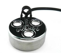 Nuevo generador de niebla ultrasónico fogger 3 cabeza humidificador + transformador 900 ml / h con luz de color