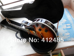 ElEctric guitar shipping box online shopping - new G Custom Electric Guitar Honey burst musical instruments Ebony fingerboard Foam box packaging with hardcase