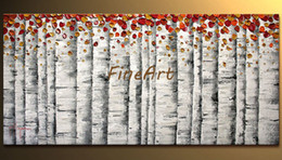 $enCountryForm.capitalKeyWord Australia - cheap modern tree canvas art beautiful abstract art canvas painting palette knife textured oil painting bedroom decoration for home