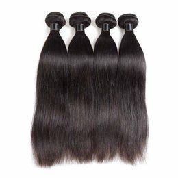 Peruvian remy hair styles online shopping - 8a Malaysian Brazilian Peruvian Virgin Human Hair Weaves bundles Straight Style Natural Color Unprocessed Remy Hair Extensions Bundles