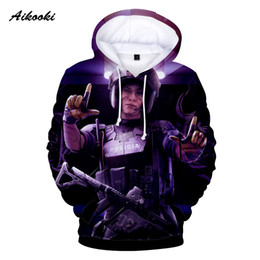 $enCountryForm.capitalKeyWord Canada - Aikooki Hot Sale Rainbow Six Siege Hoodies 3D Men Women Hoodie Sweatshirt Hoody 3D Print Pullovers Hoodies Boys Girls Thin Tops
