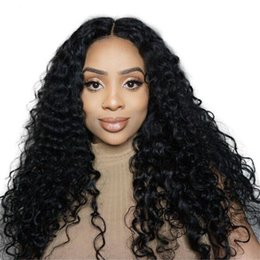 $enCountryForm.capitalKeyWord UK - Deep Wave Lace Front Human Hair Wigs Water Wave Lace Frontal Wig With Baby Hair Pre Plucked Brazilian Remy Hair For Black Women
