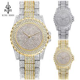 9f6fdbef0af KING HOON Top Brand Silver Luxury Women Dress Watch Rhinestone Ceramic  Crystal Quartz Watches Magic Women Wrist Watch Female S924W