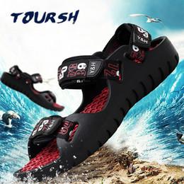 Summer Waterproof Hiking Shoes NZ - TOURSH Waterproof Sepatu Pria Outdoor Hiking Sandals Shoes Summer Shoes Mens Trekking Beach Men's Sneakers Krosovki