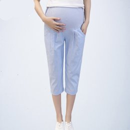 Leggings Pregnant Australia - Summer Maternity Leggings Care Belly Pants Clothes for Pregnant Women Pregnant Pregnancy Shorts Capris Bottom Trousers