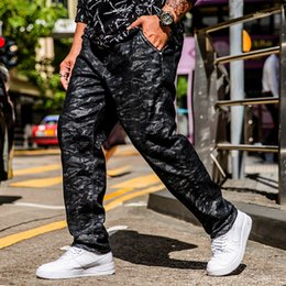 Plus Size Camouflage Jeans NZ - 2018 Punk Style Camouflage Long Jeans Men Skinny Casual Ripped Denim Trousers For Men Straight Slim Fit Plus Size 30-40 42 44 46