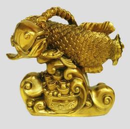 $enCountryForm.capitalKeyWord NZ - A Feng Shui lucky bronze arowana copper money cornucopia dragon fish fish Home Furnishing cra