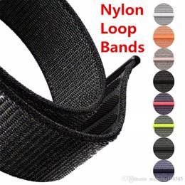$enCountryForm.capitalKeyWord NZ - Classic Sport Woven Nylon Loop Wrist Strap for Apple Watch Band 38 42mm Woven Fabric Adjustable Closure Soft Replacment Straps Series 3 2 1