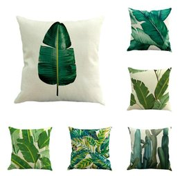 Tropical Plants Leaf Monstera Dandelion Flower Cushion Covers For Living Room Decorative Pillow Case Yellow Pillowcase Cover Home Textile