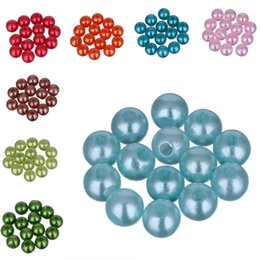 $enCountryForm.capitalKeyWord UK - LNRRABC About 200pcs lot 5A Quality!6MM Mixed Color Beads Fashion Round Acrylic Pearl Spacer Loose Beads DIY Jewelry Making
