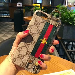 Wholesale New fashion brand designer bags bee phone case Ring button iphone case for iphone s plus X iphone case