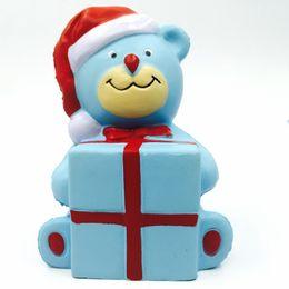 $enCountryForm.capitalKeyWord UK - Jumbo Christmas Gift Blue Bear Squishy Slow Rising Phone Strap Accessories Kid Toy Squeeze Gift Antistress Fun Xmas Gift P15