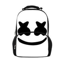 Army mAsks online shopping - New Women Backpack Marshmello School Bags for Teenagers Girls Boys Stylish Children Bagpack Ladies Travel Bag Student Mask dj