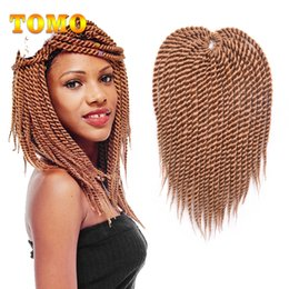 Discount short ombre hair extensions - TOMO Synthetic Senegalese Twist 12Inch Short Pure Mix Ombre Crochet Braids Havana Twist Hair Extensions For Black White