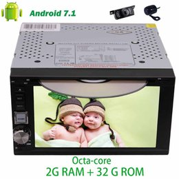 7.1 computers UK - Front&Backup Camera+6.2'' Android 7.1 Car Radio Double Din car dvd player trip computer in Dash Octa-Core GPS Sat Nav Headunit Wifi
