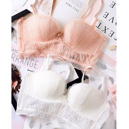 c404fa1cae Sexy Lace petal Underwear Set Gather Embroidery Bra Set 2018 New Sweet  Super Push Up women lingerie Young Girl Bra Brief Sets