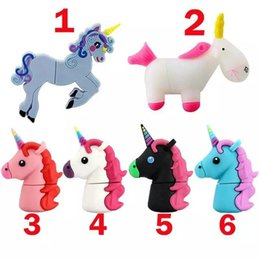 $enCountryForm.capitalKeyWord Australia - High quality Cute cartoon Horse Style USB Flash Drive Data Storage Memory Stick 4gb 8gb 16gb 32GB Pendive U Disk new arrival wholesale