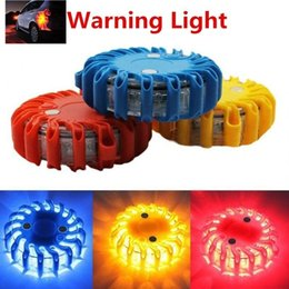 Car Beacons NZ - BC Rechargeable LED magnetic circular beacon emergency flashing flashing warning car lights roof lights police lights for vehicles#