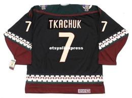 custom Mens KEITH TKACHUK Phoenix Coyotes 1998 CCM Jerseys Vintage Cheap Retro  Hockey Jersey eabd962fd