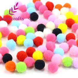 $enCountryForm.capitalKeyWord Canada - Lucia Crafts 500-1000pcs lot 8mm Mixed Soft Round Shaped Pompom Balls Fluffy Pom Pom For Kids DIY Garment Handcraft 22010038