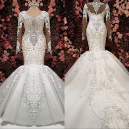 c18879e6503cd Long t shirt skirts online shopping - 2019 Luxury Wedding Dresses Gorgeous  Embroidery Beaded V Neck