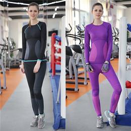 $enCountryForm.capitalKeyWord Australia - Woman Yoga Fitness Sets Sportswear Body Shaper Suits Long Sleeve Shirts Pants Running Gym Top Elastic Tracksuit Slim Sports Sets