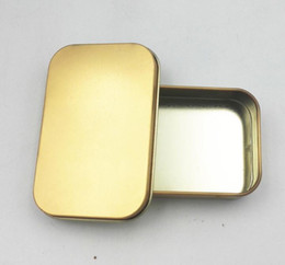 Gold Boxes For Candy NZ - Popular Tin Box Empty Silver gold Metal Storage Box Case Organizer For Money Coin Candy Keys U disk headphones gift box 2000Pcs
