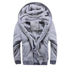 $enCountryForm.capitalKeyWord Canada - Gray Hoodies Men 2018 Winter Thick Warm Fleece Men's Sweatshirts Casual Loose Fit Jackets Male Coat