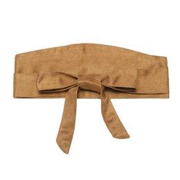 Band Belts UK - Casual Women Solid Sash Belt Wrap Suede Waist Band Belt