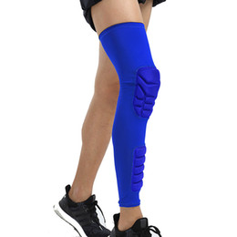 98f70299851ba Basketball Leggings Padding NZ - Calf Knee Support Leg Warmer Sports Knee  Pads Breathable Men\