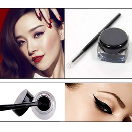 ladies pen sets NZ - Lady Eyeliner Brush Eye Liner Pen Brushes Set Black