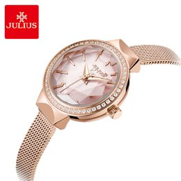 $enCountryForm.capitalKeyWord UK - Julius Women Luxury Rhinestone Mesh Belt Watch Waterproof Quartz Wristwatches Elegant Bracelet Dress Watches Clock Montre Femme