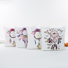 Dreaming pillow online shopping - Dream Catcher Cushion Cover Imitated Silk Fabric Pillow Case Without Core Square Throw Pillows Cases For Home xa BB