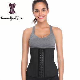6f91d73b6e2 948 Height 30cm latex 25 steel boned waist cincher breathable underbust  corset workout waist trainer body shaper