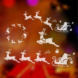 $enCountryForm.capitalKeyWord Canada - 2017 Window Decor Reindeer Sled christmas decorations for home navidad wall sticker new year gift decal mural for kids shop gifthaif