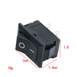 Discount mini switch push button - 10 pcs Black Push Button Mini Switch 6A-10A 110V 250V KCD1-101 2Pin Snap-in On Off Rocker Switch 21MMx15MM