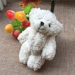 Chinese  50PCS LOT Kawaii Small Joint Teddy Bears Stuffed Plush With Chain 12CM Toy Teddy-Bear Mini Bear Ted Bears Plush Toys Gifts Christmas present manufacturers