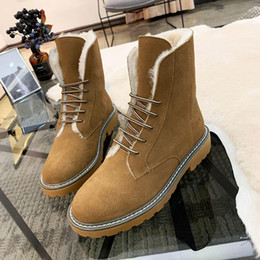 Snow Booties For Women NZ - Women Snow Boots VGG Warm Winter Boots Fashion Women Shoes Faux Suede Ankle Boots For Women Botas Snow Booties Plus Velvet Classic Design