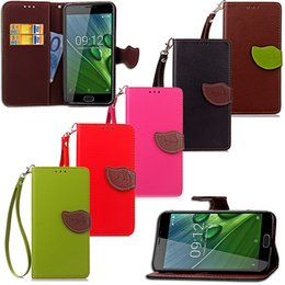 Acer Cases Australia - Leaf Shape Flip Cell Phone Soft PU Leather Wallet Case Cover for Acer Z6 Plus with Bank Card Holder Strong Hand Strap